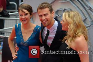 Kate Winslet, Theo James and Shailene Woodley - Premiere of 'Divergent' held at the Odeon Leicester Square - Arrivals -...