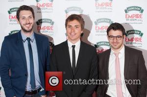 Joe Thomas, Blake Harrison and Simon Bird - Jameson Empire Awards 2014 held at The Grosvenor House - Arrivals. -...