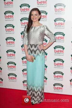 Hayley Atwell - Jameson Empire Awards 2014 held at The Grosvenor House - Arrivals. - London, United Kingdom - Sunday...