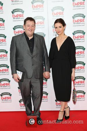 Johnny Vegas and Maia Dunphy - The Jameson Empire Awards 2014 held at Grosvenor House - Arrivals - London, United...