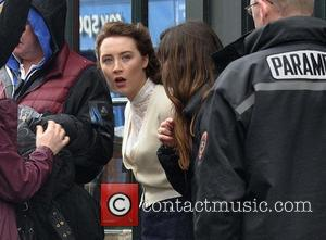 Saoirse Ronan - Actress Saoirse Ronan on the first day of filming 'Brooklyn', based on writer Colm Tobin's book -...