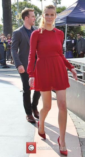 Brooklyn Decker and James Van Der Beek - Celebrities arrive at Universal CityWalk for an appearance on 'Extra' - Los...