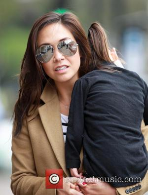 Myleene Klass and Hero Quinn - Myleene Klass out and about with her daughters Ava and Hero, near their London...