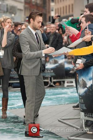 Douglas Booth - 'Noah' UK Premiere held at the Odeon Leicester Square - Arrivals. - London, United Kingdom - Monday...