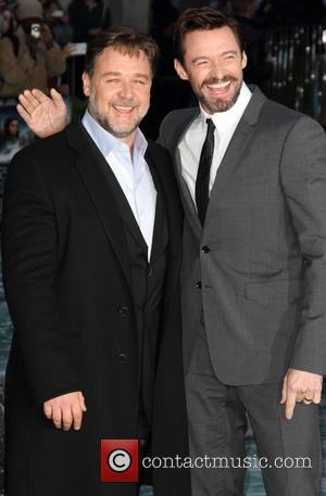 Russell Crowe and Hugh Jackman - UK Premiere of Noah at the Odeon Leicester Square, London - London, United Kingdom...