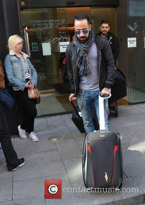 AJ McLean - The Backstreet Boys seen coming and going at their Dublin hotel ahead of playing The O2 tonight......