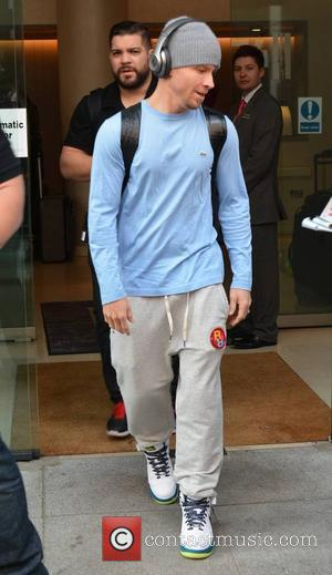 Brian Littrell - The Backstreet Boys seen coming and going at their Dublin hotel ahead of playing The O2 tonight......