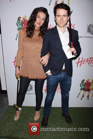 America Olivo and Christian Campbell - Opening night of Heathers The Musical at the New World Stages - Arrivals. -...