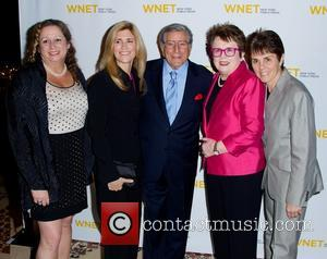 Abby Disney, Susan Crow, Tony Bennett and Billie Jean King