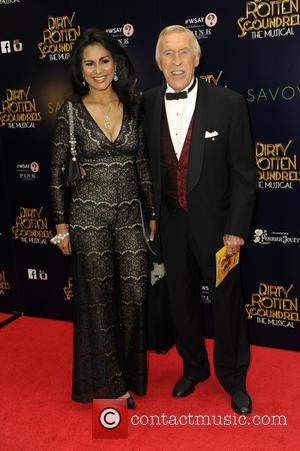 Bruce Forsyth and Wilnelia Forsyth - Dirty Rotten Scoundrels Press Night after party at The Savoy Hotel - London, United...