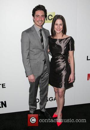 Ben Feldman and Michelle Mulitz - Season 7 premiere of the Emmy and Golden Globe Award-winning drama 'Mad Men' held...