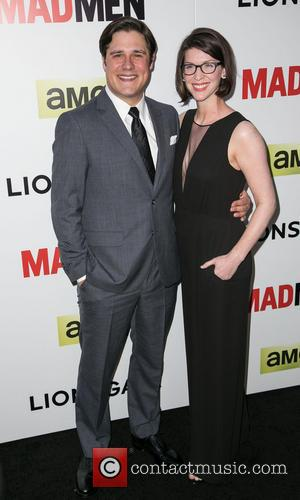 Rich Sommer and Virginia Donohoe Sommer - Season 7 premiere of the Emmy and Golden Globe Award-winning drama 'Mad Men'...