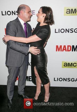 Matthew Weiner and Elisabeth Moss