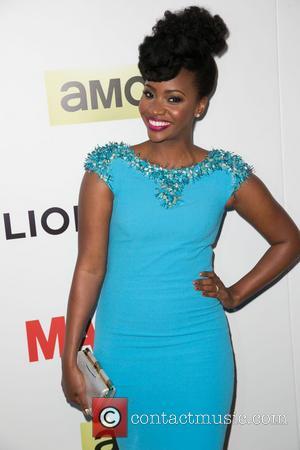 Teyonah Parris - Celebrities attend AMC celebration of the Season Seven Premiere of The Emmy & Golden Globe Award-winning drama...