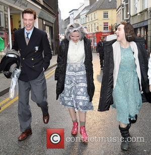 Domhnall Gleeson, Eileen O'higgins and Saoirse Ronan