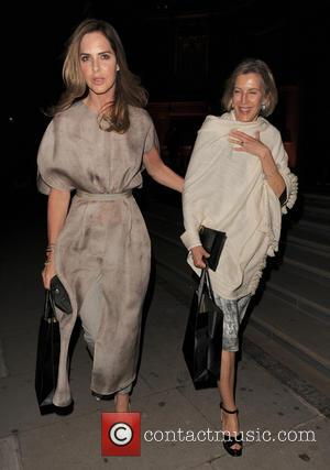 Trinny Woodall - Celebrities leaving The Glamour of Italian Fashion 1945-2014 VIP Dinner - London, United Kingdom - Wednesday 2nd...