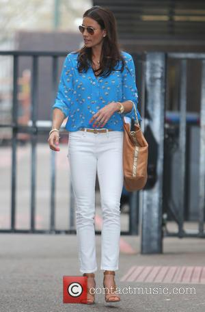 Melanie Sykes - Melanie Sykes outside the ITV studios - London, United Kingdom - Wednesday 2nd April 2014