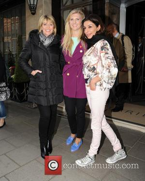 Ruth Langsford Rebecca Adlington Shobna Gulati - Celebrities arriving at Claridges for daytime tv show 'Loose Women' - London, United...