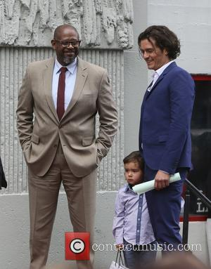 Orlando Bloom, Flynn Bloom and Forest Whitaker