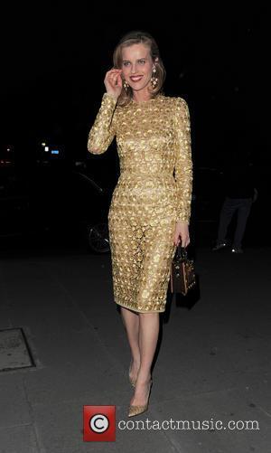 Eva Herzigova - Celebrities arriving at The Glamour of Italian Fashion 1945-2014 - VIP dinner held at Victoria and Albert...