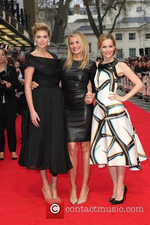 Cameron Diaz, Kate Upton and Leslie Mann - U.K. gala screening of 'The Other Woman' - Arrivals - London, United...