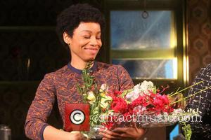 Anika Noni Rose - Opening night curtain call for A Raisin in the Sun at the Ethel Barrymore Theatre. -...