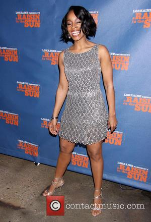 Anika Noni Rose wearing Naeem Khan - Opening night after party for A Raisin in the Sun at Tribeca Rooftop...