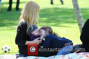 Rachel Zoe, Kaius Berman and Skyler Berman - Rachel Zoe and family at Cold Water Park in Beverly Hills -...