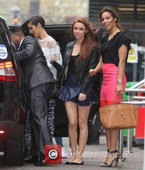 The Saturdays - The Saturdays outside the ITV studios - London, United Kingdom - Friday 4th April 2014