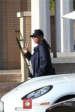 Queen Latifah - Queen Latifah outside Barney's New York in...