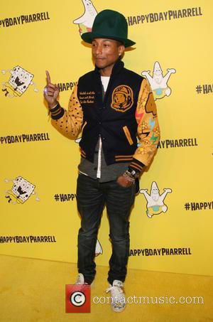 Pharrell Williams - Pharrell Williams celebrates his 41st birthday with a Spongebob Squarepants themed party at Bikini Bottom, Cipriani Wall...
