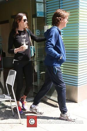 Paul McCartney - Paul McCartney walking with wife Nancy Shevell in Beverly Hills - Los Angeles, California, United States -...