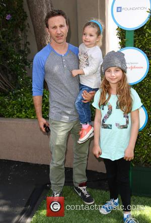 Breckin Meyer, Caitlin Meyer and Clover Meyer - Safe Kids Day 2014 event held at The Lot - Arrivals -...