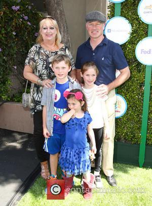 Neal McDonough, Morgan McDonough, Catherine McDonough and London McDonough - Safe Kids Day 2014 event held at The Lot -...