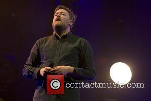 Guy Garvey and Elbow - Elbow performing live in concert in the SSE Hydro at the SECC (Scottish Exhibition and...