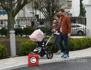 Amelia Warner, Jamie Dornan and daughter - Fifty Shades of Grey actor Jamie Dornan takes a stroll with his wife...