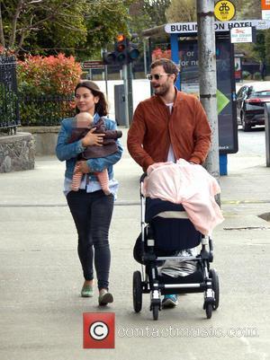 Amelia Warner, Jamie Dornan and Daughter