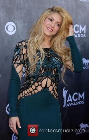 Shakira - 49th Annual Academy of Country Music Awards - Arrivals - Las Vegas, Nevada, United States - Sunday 6th...