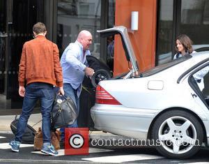 Jamie Dornan and Amelia Warner - Fifty Shades of Grey actor Jamie Dornan seen leaving The Doubletree Hilton Hotel Dublin...