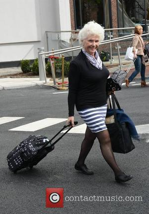 Fionnula Flanagan - The day after The IFTA awards, actors are seen coming and going from the DoubleTree by Hilton...