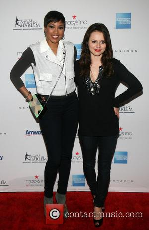 Alicia Quarles and Sasha Cohen