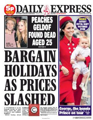 Peaches Geldof and Daily Express
