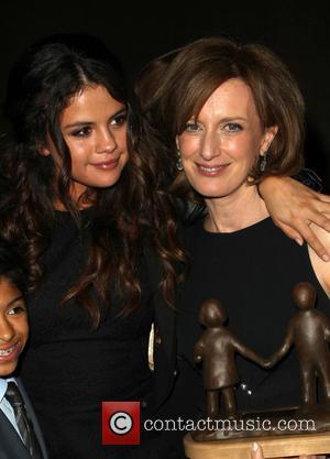 Selena Gomez and Anne Sweeney