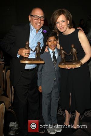 Willie Garson, Nathen Garson and Anne Sweeney