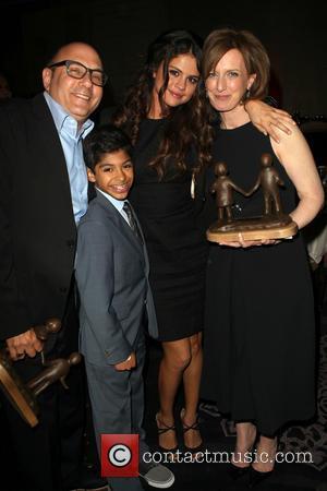 Willie Garson, Selena Gomez, Anne Sweeney and Nathen Garson - The Alliance For Children's Rights 22nd Annual Dinner_Inside - Beverly...