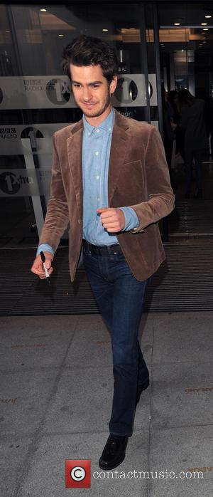 Andrew Garfield - Andrew Garfield and Emma Stone leaving the Radio 1 studios - London, United Kingdom - Wednesday 9th...