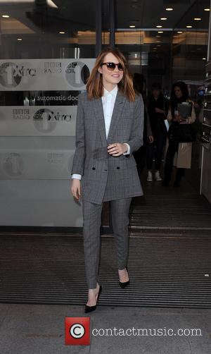 Emma Stone - Andrew Garfield and Emma Stone leaving the Radio 1 studios - London, United Kingdom - Wednesday 9th...