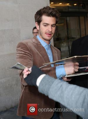 Andrew Garfield - Andrew Garfield and Emma Stone outside the BBC Radio studios - London, United Kingdom - Wednesday 9th...