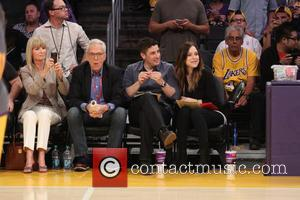 Jason Biggs - Celebrities watching the Los Angeles Lakers v Houston Rockets NBA basketball game at the Staples Center. Houston...