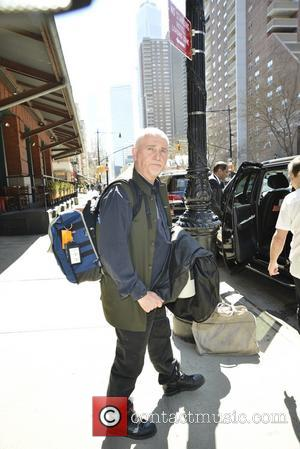Peter Gabriel - Peter Gabriel leaving his hotel - Manhattan, New York, United States - Thursday 10th April 2014